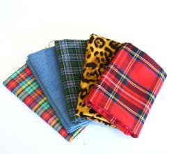 Pack of 5 100% Cotton Mixed Punk Themed Fat Quarters